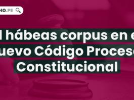 El hábeas corpus en el nuevo Código Procesal Constitucional