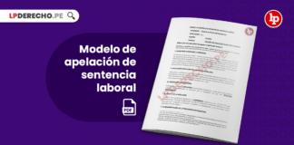 Modelo de apelación de sentencia laboral