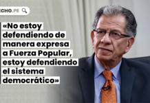 Óscar Urviola: «No estoy defendiendo de manera expresa a Fuerza Popular, estoy defendiendo el sistema democrático»