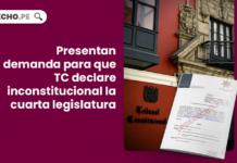 Presentan demanda para que TC declare inconstitucional la cuarta legislatura con logo de LP