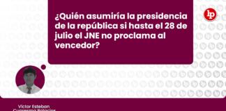 ¿Quién asumiría la presidencia de la República si hasta el 28 de julio el JNE no proclama al vencedor? con logo de LP