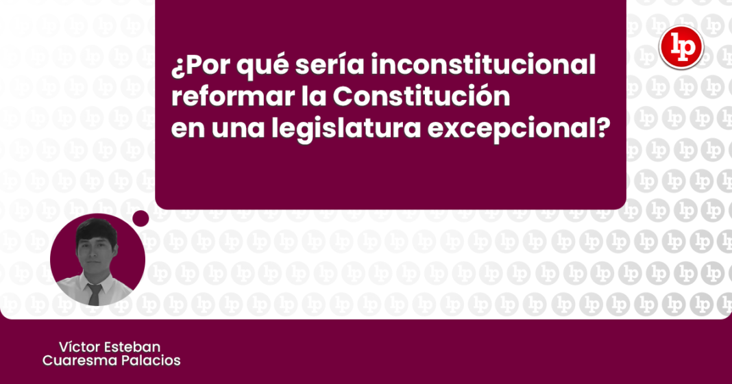 reformar la Constitución en una legislatura excepcional con logo de LP
