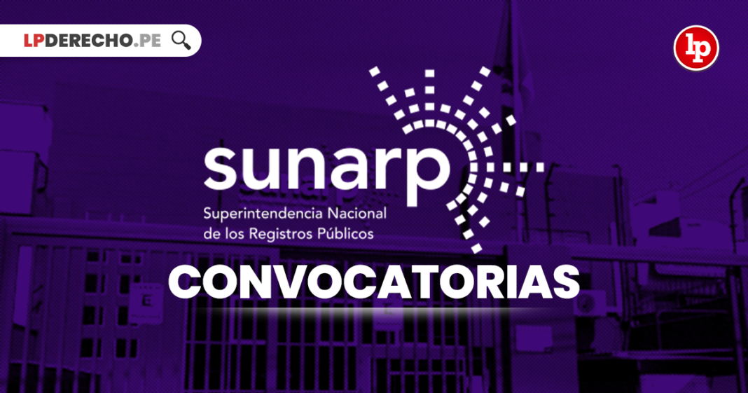 Sunarp convocatorias con logo de LP