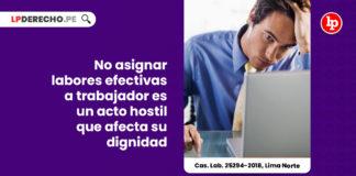 asignar-labores-trabajador-hostilidad-dignidad-casacion-laboral-25294-2018-lima-norte-LP