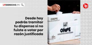 desde-hoy-podras-tramitar-dispensa-no-fuiste-votar-razon-justificada-LP