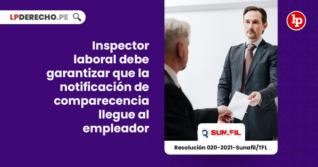 inspector-laboral-garantizar-notificacion-comparecenvia-llegue-empleador-LP
