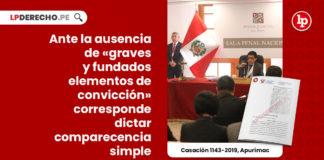 prision-preventiva-ausencia-graves-fundados-elementos-conviccion-dictar-comparecencia-simple-casacion-1143-2019-apurimac-LP