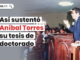 Asi sustento Anibal Torres su tesis de doctorado con logo de LP