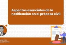 Aspectos esenciales notificación en el proceso civil - LP