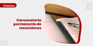 Revista LP Derecho: convocatoria de recensiones