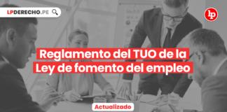 Reglamento del TUO de la Ley de fomento del empleo