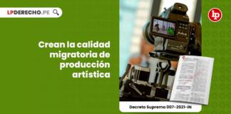 Crean la calidad migratoria de producción artística