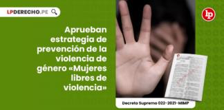 Aprueban estrategia de prevención de la violencia de género «Mujeres libres de violencia»