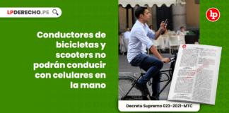 Conductores de bicicletas y scooters no podrán conducir con celulares en la mano