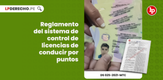 Reglamento del sistema de control de licencias de conducir por puntos