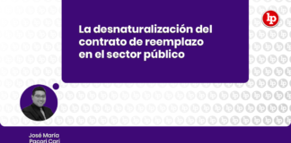 Desnaturalizacion contrato de reemplazo sector publico con logo de LP