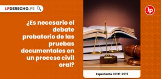 ¿Es necesario el debate probatorio de las pruebas documentales en un proceso civil oral?