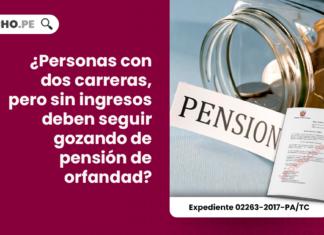 ¿Personas con dos carreras, pero sin ingresos deben seguir gozando de pensión de orfandad?