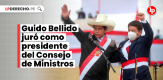 Guido Bellido juró como presidente del Consejo de Ministros