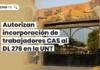 Incorporan trabajadores CAS al DL 276 en la UNT - LPDerecho