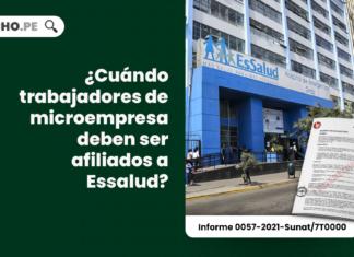 ¿Cuándo trabajadores de microempresa deben ser afiliados a Essalud?