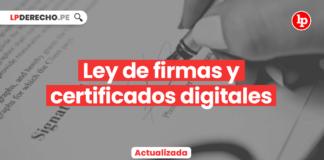 Ley de firmas y certificados digitales • Ley 27269