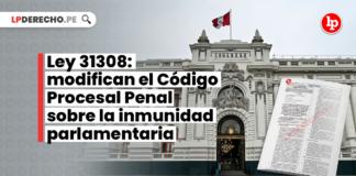 Ley 31308: modifican el Código Procesal Penal sobre la inmunidad parlamentaria