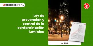 Ley 31316: Ley de prevención y control de la contaminación lumínica