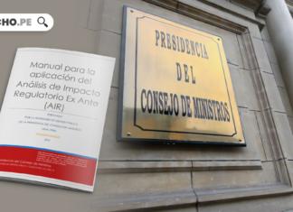 Manual para la aplicación del Análisis de Impacto Regulatorio Ex Ante con logo de LP