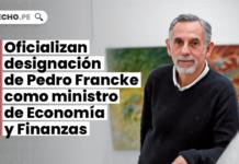 Oficializan designación de Pedro Francke como ministro de Economía y Finanzas
