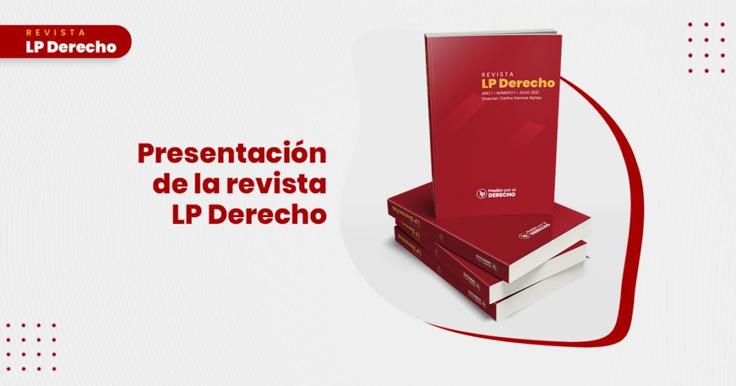 Presentacion de la revista LP Derecho con logo de LP