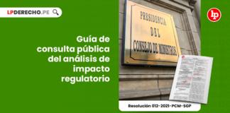 Guía de consulta pública del análisis de impacto regulatorio