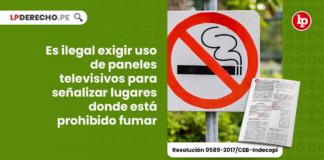 Es ilegal exigir uso de paneles televisivos para señalizar lugares donde está prohibido fumar