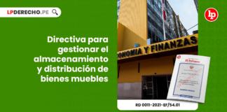 Directiva para gestionar el almacenamiento y distribución de bienes muebles