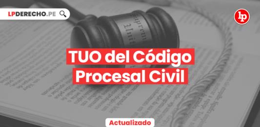 TUO del Código Procesal Civil