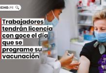 Trabajadores tendrán licencia con goce el día que se programe su vacunación con logo de LP