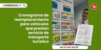 cronograma-reemplacamiento-vehiculos-prestan-servicio-transporte-turistico-resolucion-ministerial-712-2021-mtc-01-LP