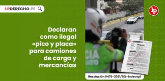 ilegal-pico-placa-camiones-carga-mercancias-resolucion-0476-2021-sel-indecopi-LP