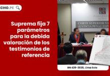 suprema fija parametros valoracion testimonios referencia-LP