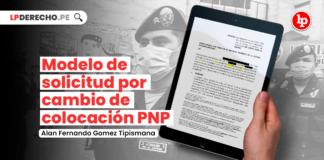 Modelo de solicitud por cambio de colocación PNP