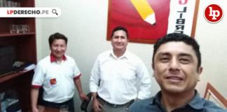 Guido Bellido Ugarte, Guillermo Bermejo Rojas con logo de LP