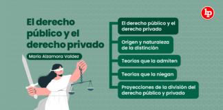 El derecho público y el derecho privado, explicado por Mario Alzamora Valdez