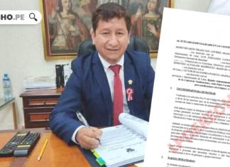 Guido Bellido documento con logo de LP