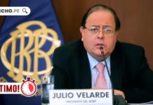 Julio Velarde con logo de LP