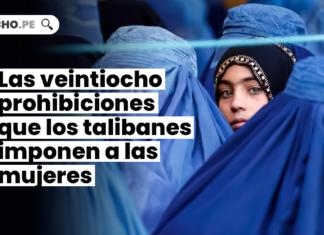 Las veintiocho prohibiciones que los talibanes imponen a las mujeres