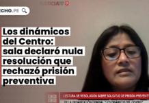 Los dinámicos del Centro: sala declaró nula resolución que rechazó prisión preventiva