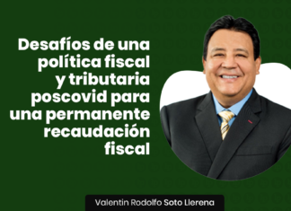 wDesafíos de una política fiscal y tributaria poscovid para una permanente recaudación fiscal con logo de LP