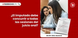 ¿El imputado debe concurrir a todas las sesiones del juicio oral?