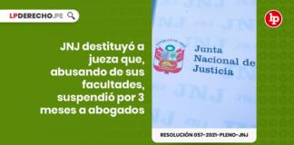 resolución 057-2021-Pleno-JNJ con logo de LP