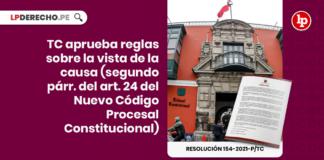 Resolución 154-2021-P/TC con logo de LP